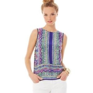 Lilly Pulitzer • Iona Purple Silk Shell Top
